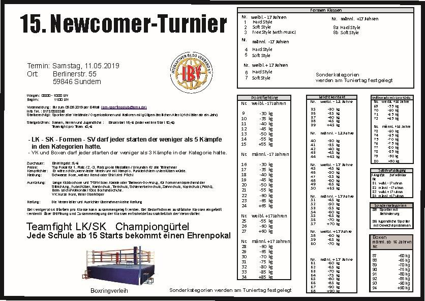 15 Newcomer Turnier Sundern 2