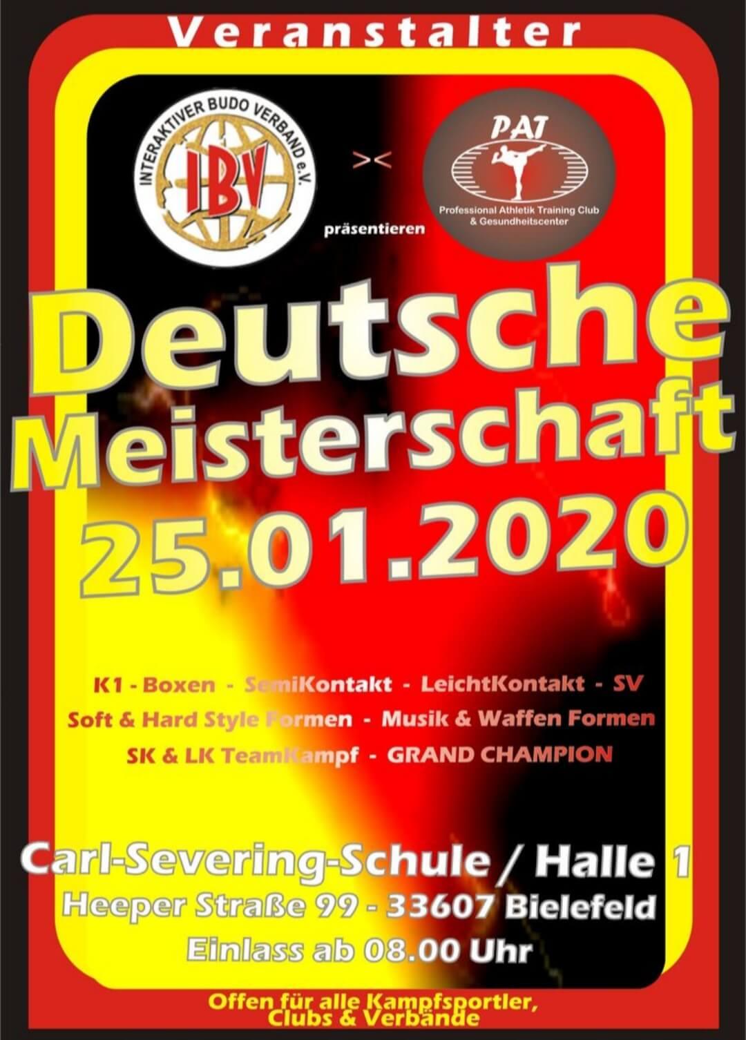 Deutsche Meisterschaft des IBV 2020 - Plakat