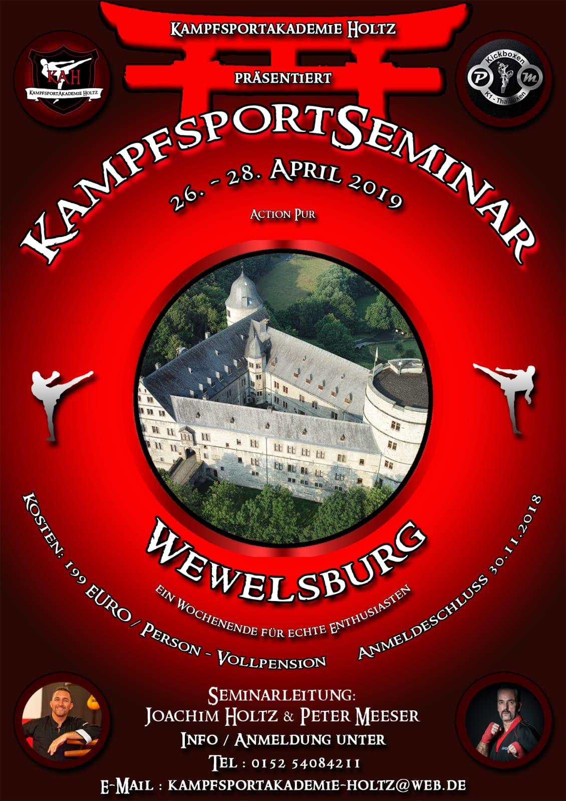 Kampfsportseminar Wewelsburg Apirl 2019