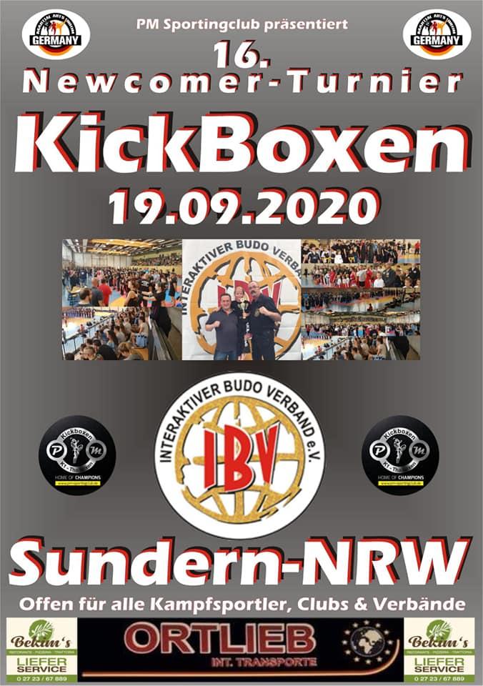 16tes NewComer Turnier Sundern 2020 Plakat