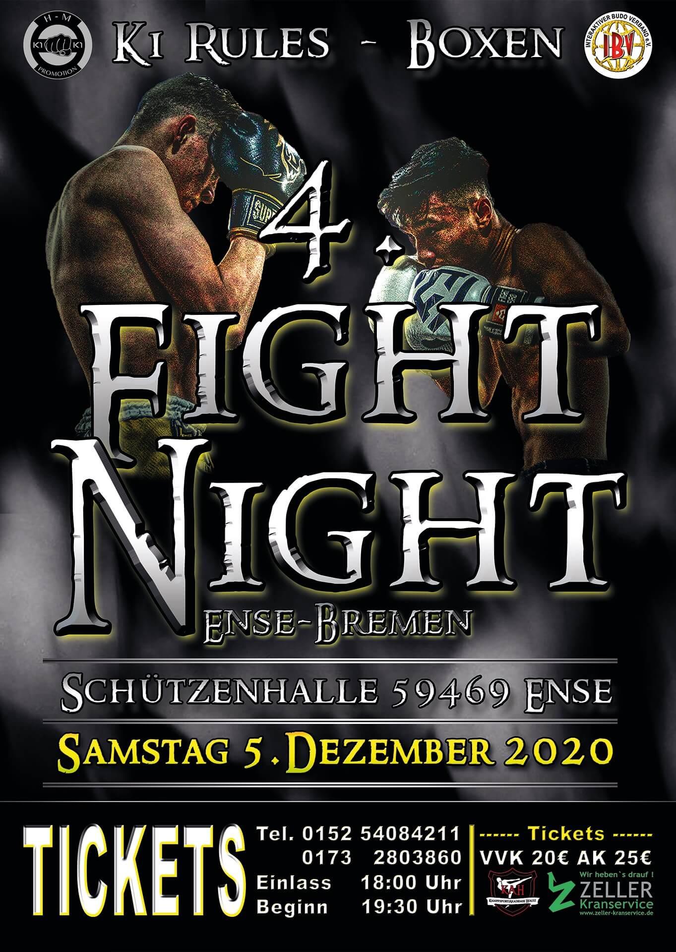 4te Fight Night Samstag 5 Dezember 2020