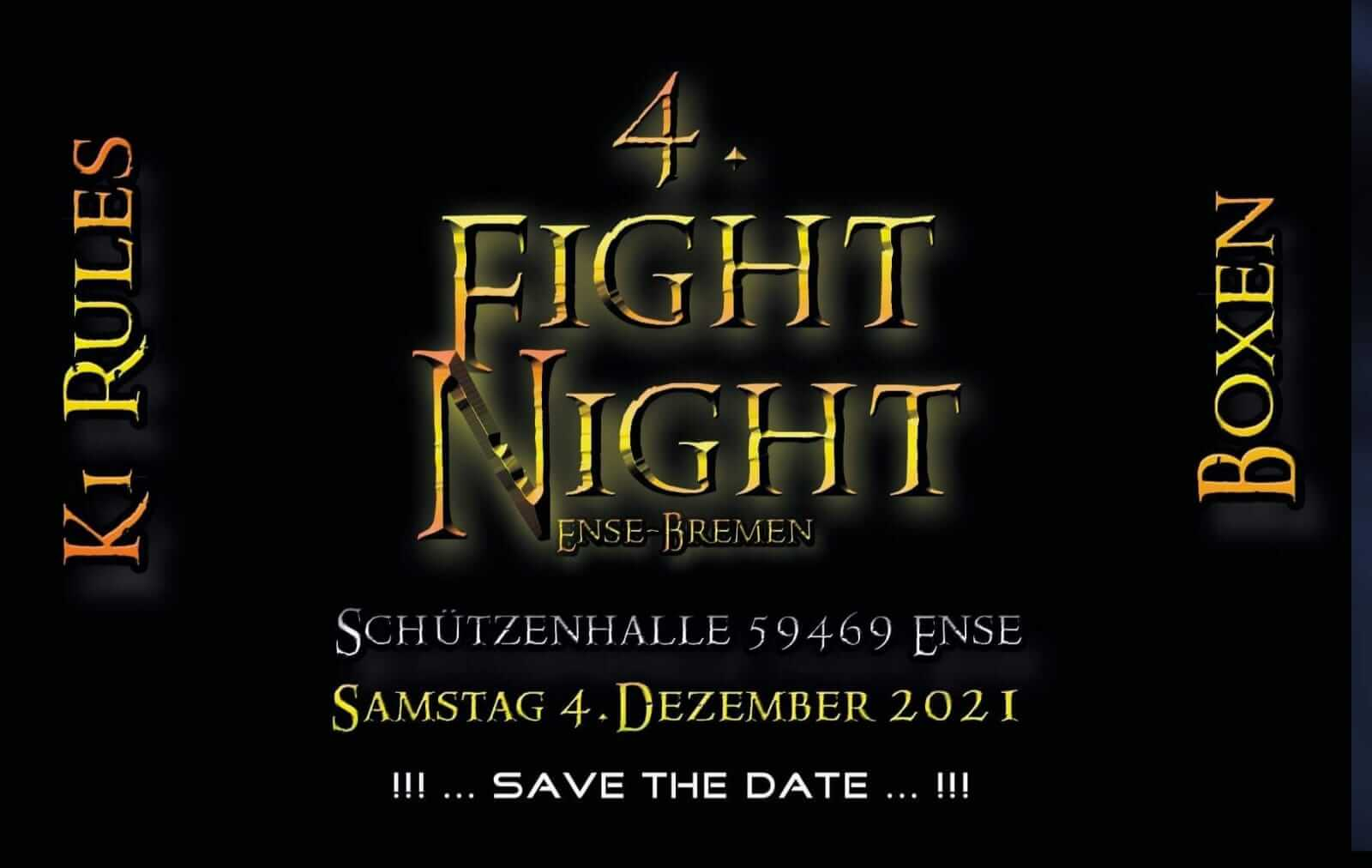 4te Fight Night in Ense Bremen Teaser - Save the date