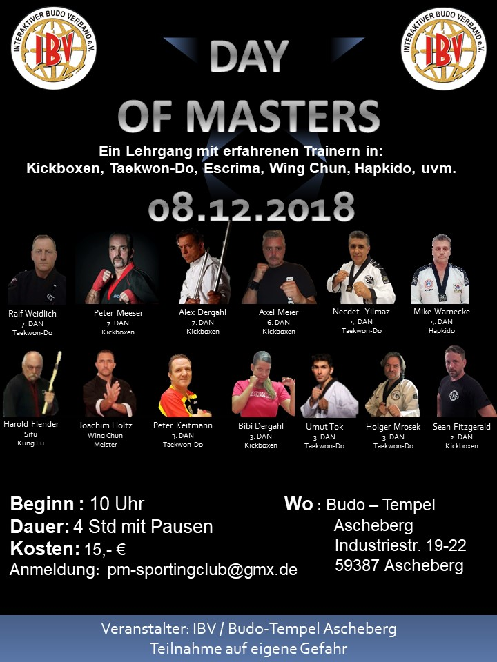 Day of Masters 2018