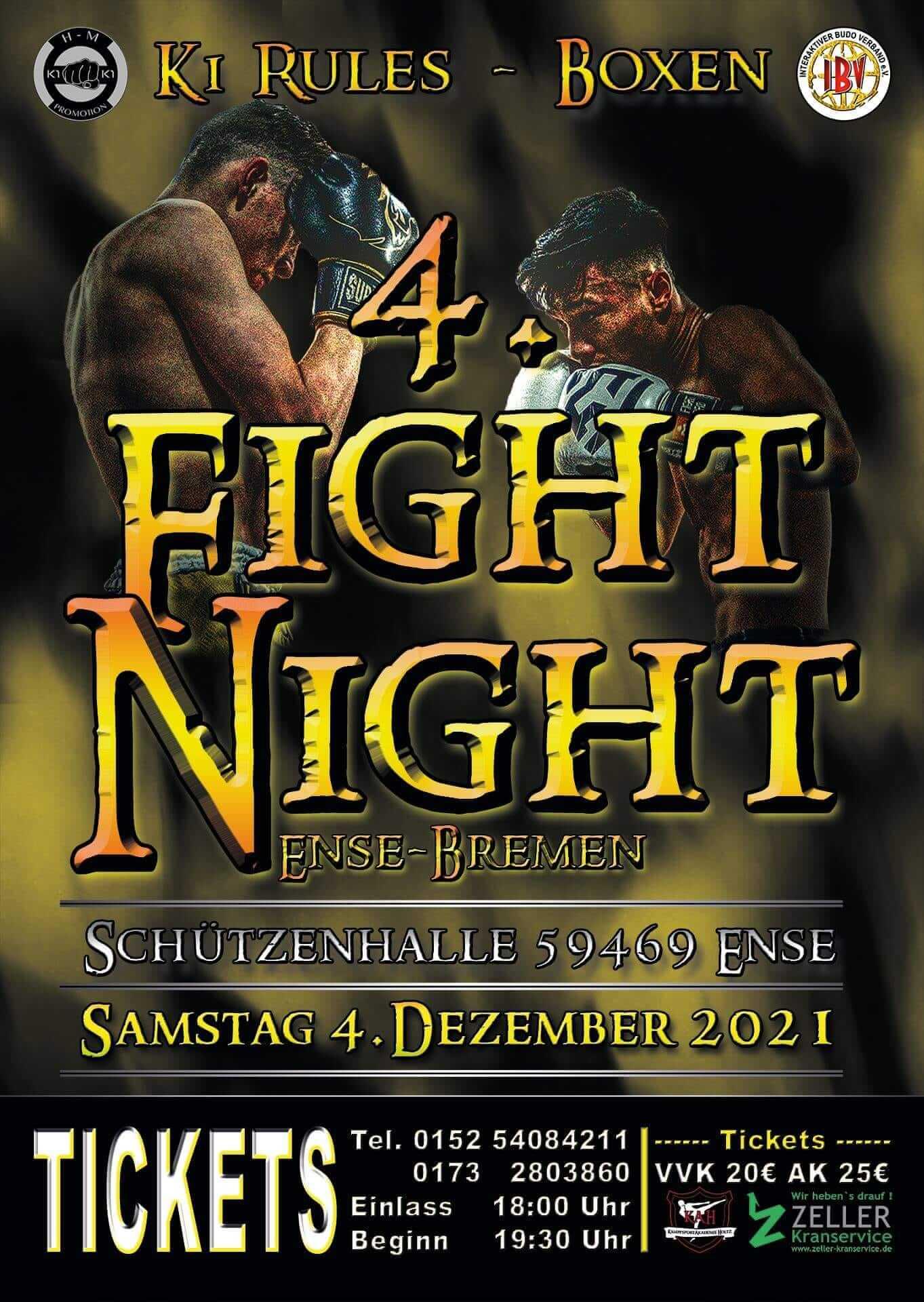 Fight Night 4 in Ense Bremen am 4 Dezember 2021