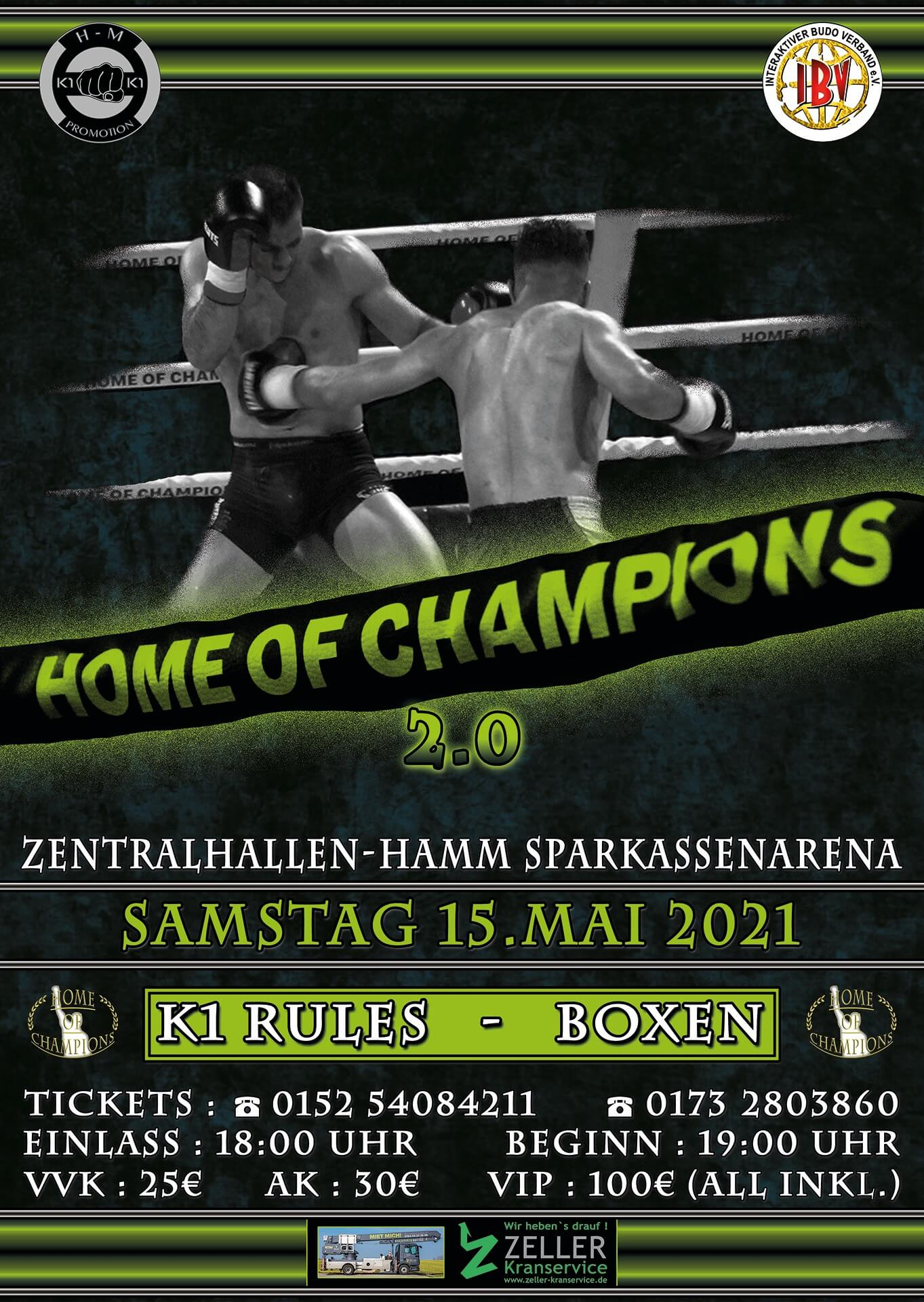 Home of Champions 2.0 Samstag 15 Mai 2021