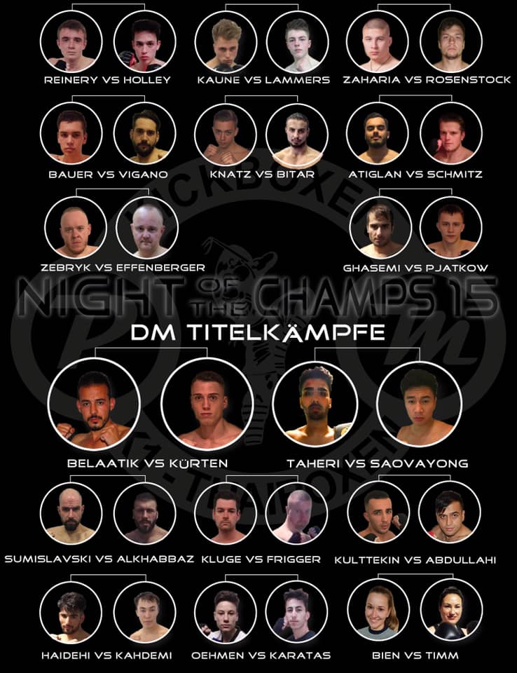 Kämpfe der 15ten Night of the Champs am 15.03.2019