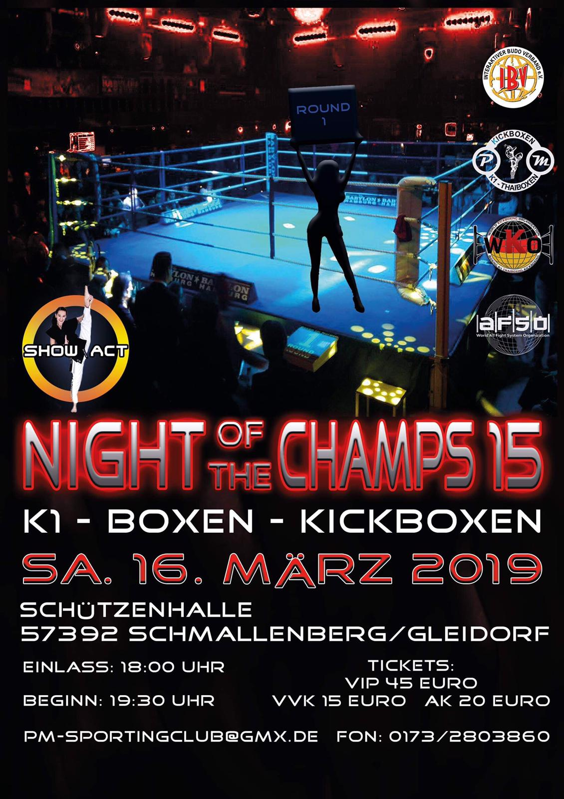 Night of the Champs 15 – 16-03-2019