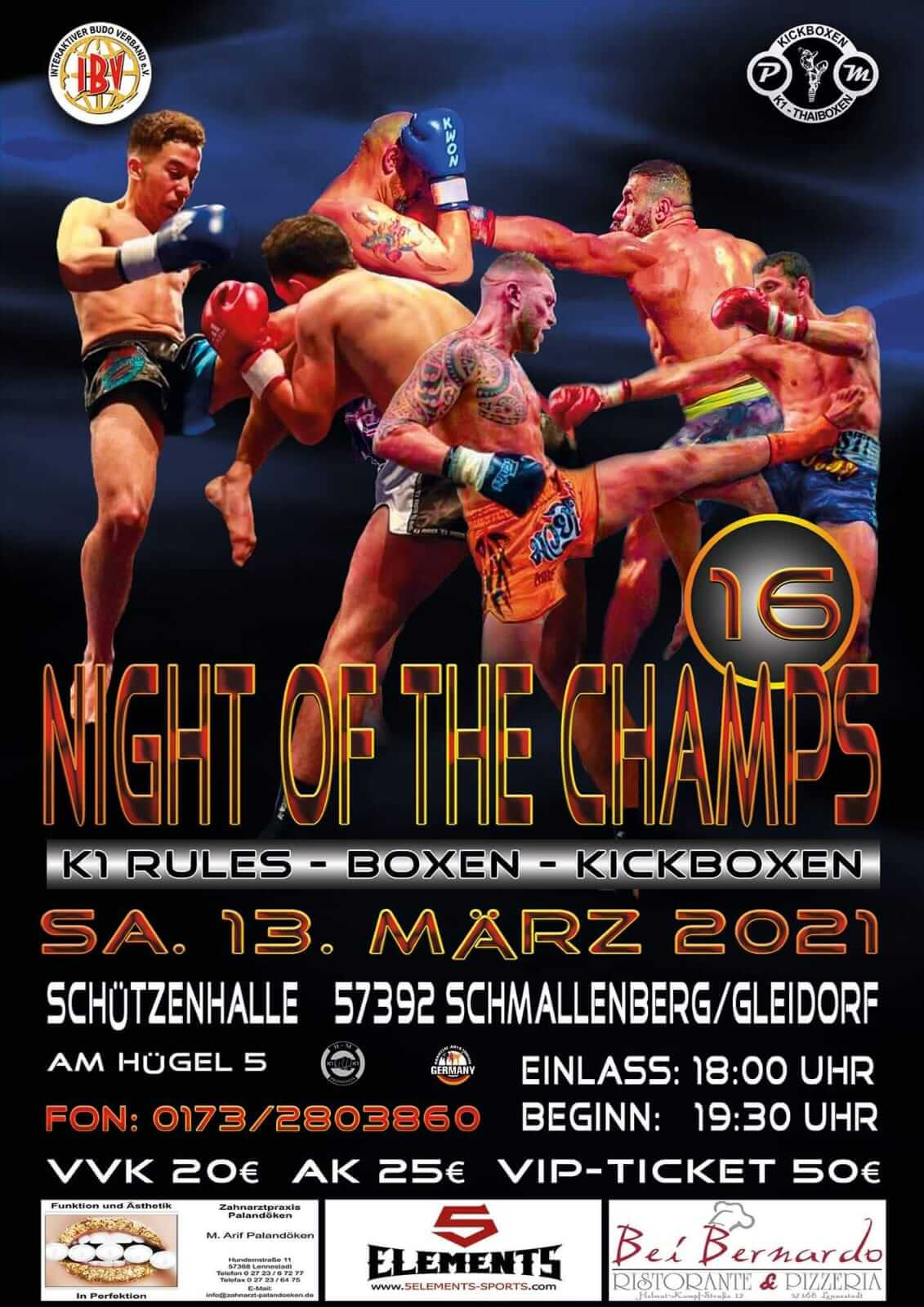 Night of the Champs Samstag 13 März 2021