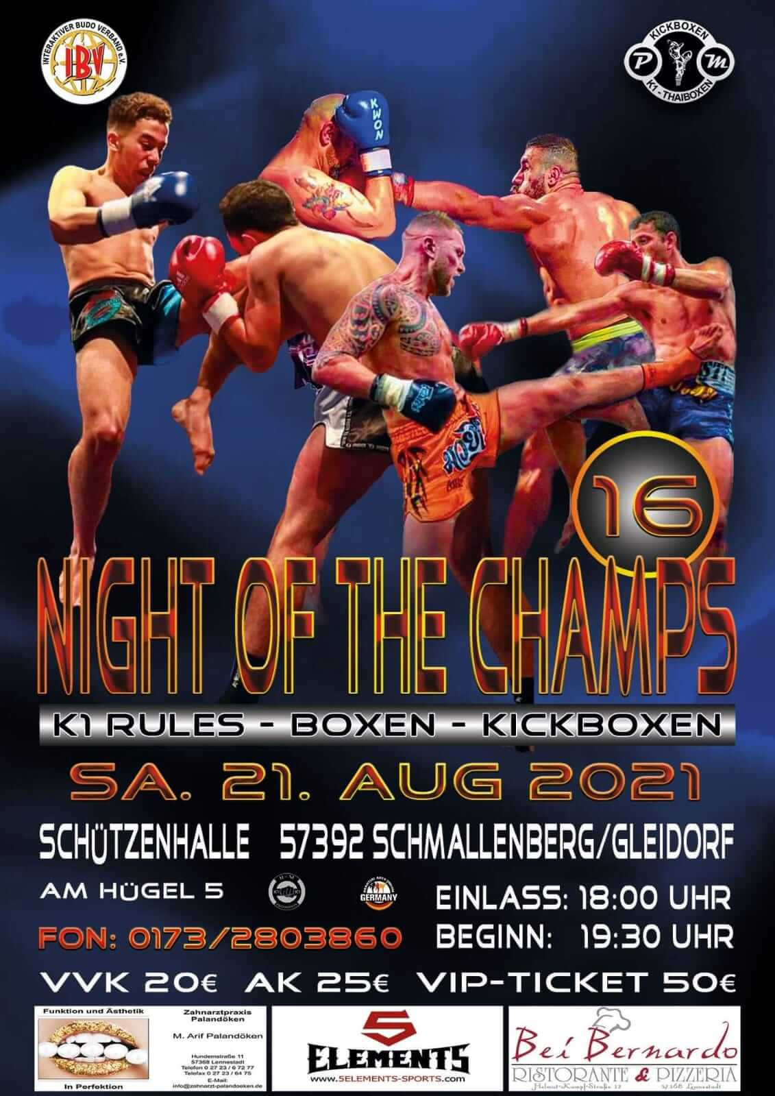 Night of the Champs Samstag 21 August 2021