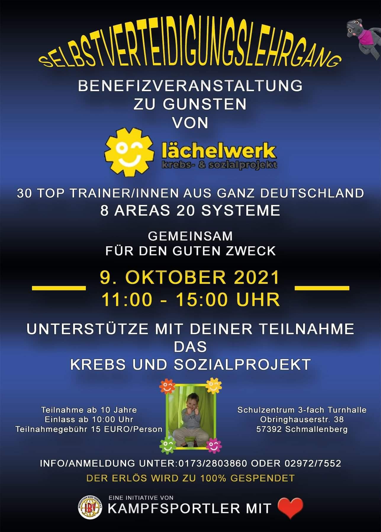 Selbstverteidigungslehrgang – Benefitzveranstaltung zu Gunsten des Krebs- und Sozialprojekts Lächelwerk e.V. in Schmallenberg (2)