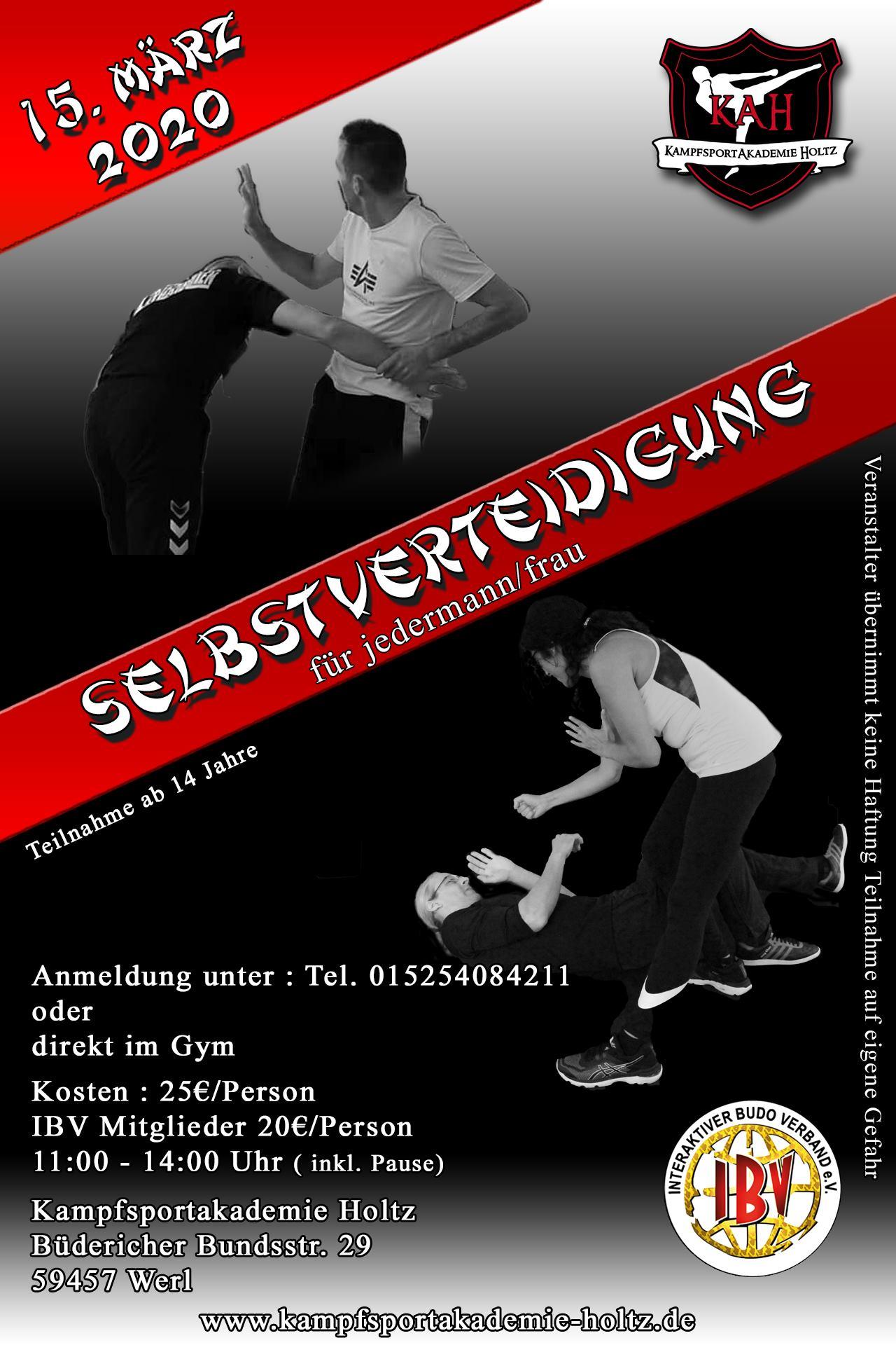 Selbstverteidigungsseminar für Frauen der Kampfsportakademie Holtz im September 2019