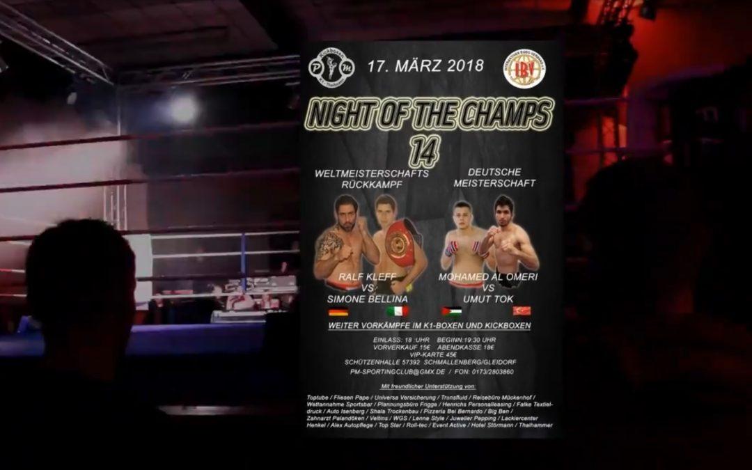 Videoimpressionen von der 14ten Night of the Champs II